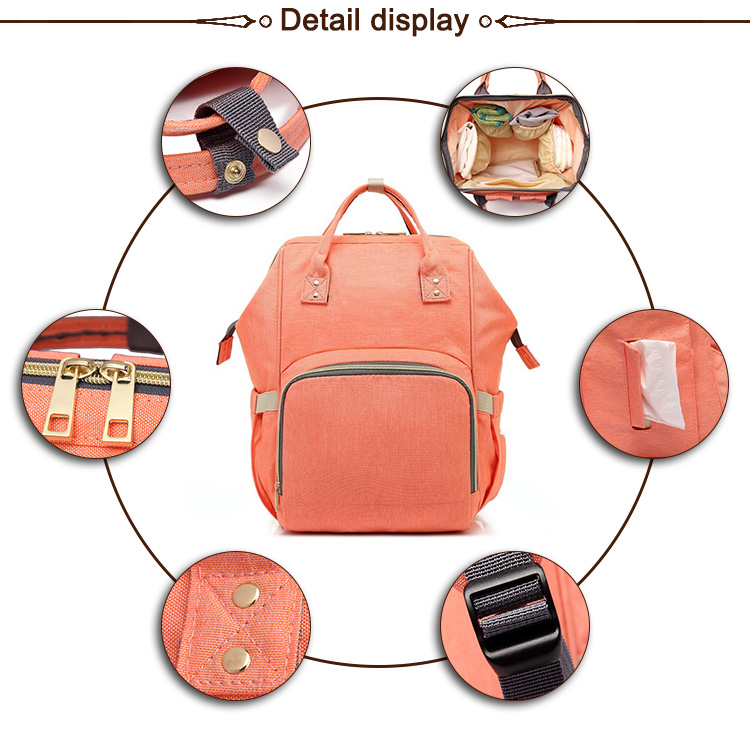 900D waterproof polyester premium diaper bag / Mommy baby diaper bag