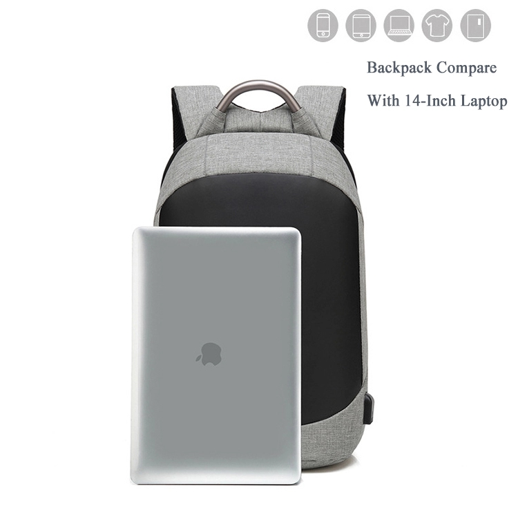 High quality heat reflective waterproof backpack / school business USB charging laptop anti-theft backpack